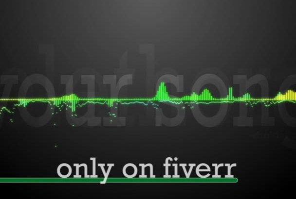 match your audio to this sleek waveform video