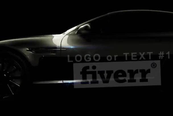 create a 3D car with custom texts and Logo
