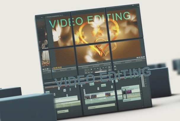 do professional video editing and intros