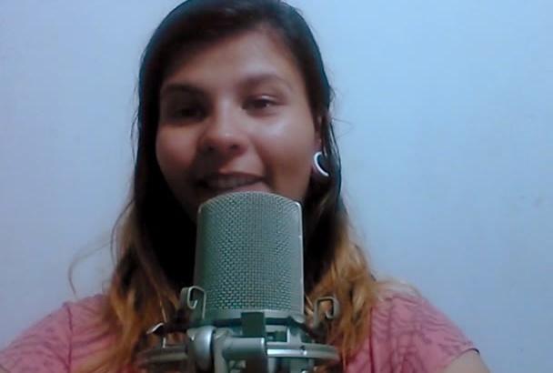 grabar mi voz en off profesional femenina en 48 hrs