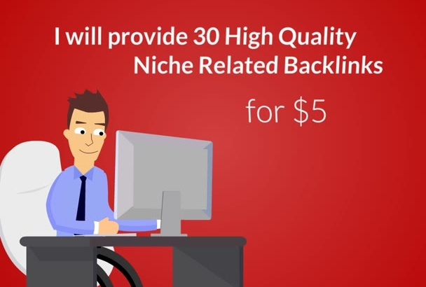 do 30 Niche Related Backlinks with actual Page