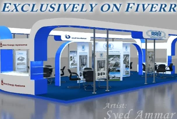 design Stall or Stand or Set with UNLIMITED Revisions