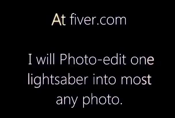 add a lightsaber into any photo