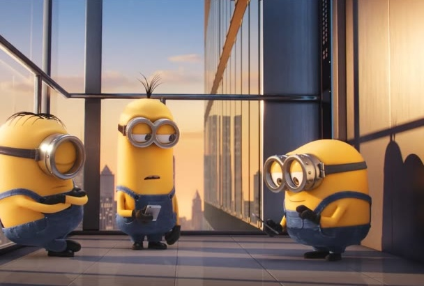 put your text and logo in this funny minion smartphone app dancing video
