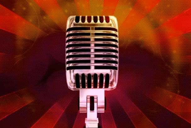 record a high quality female voice over, fast