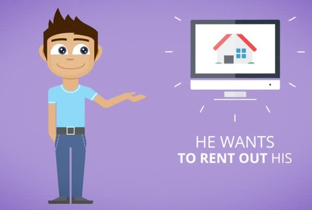 promote your real estate agency with a funny cartoon video