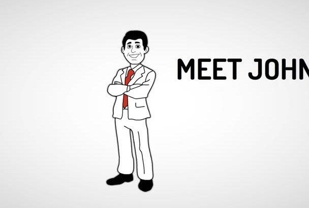 create a 60 SEC Professional Whiteboard Animation Video