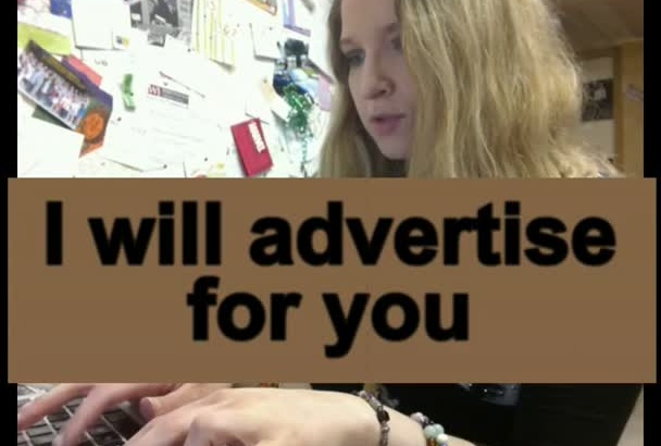 advertise for YOU on my Blog
