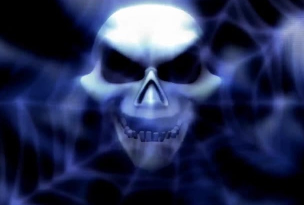 make scary skull say your site name
