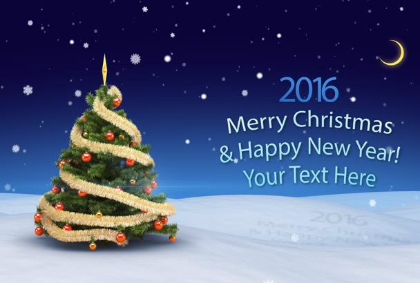 create 3D Video Greeting for Christmas and New Year
