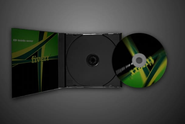 design 3D CD cover animation