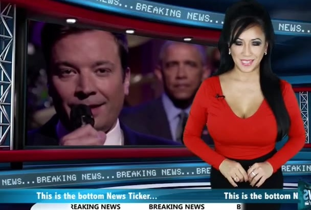 produce a Business News Presentation with American Accent