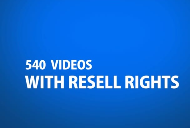 send you 540 Awesome videos on internet marketing