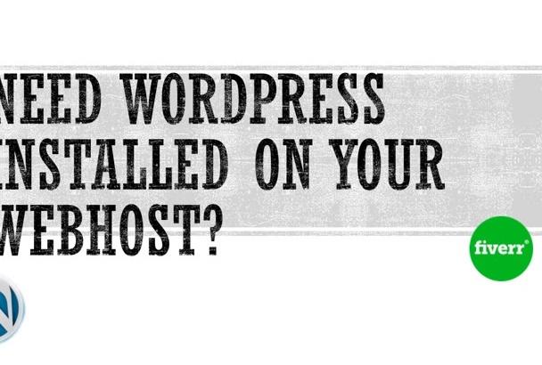 install WordPress on your Webhost