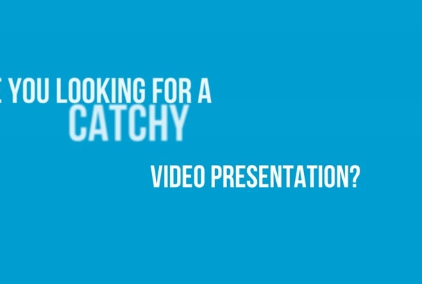 create a professional VIDEO presentation Within 48 Hours In 720p