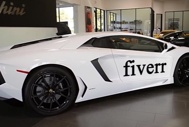promote Business on Lamborghini Aventador Video