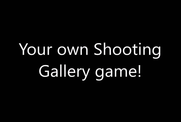 create a customized shooting gallery game with your pictures