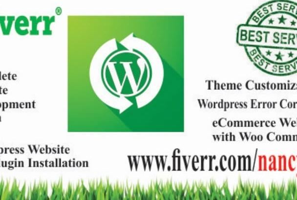 install WordPress and customize WordPress theme