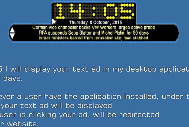 display your text ad  for more than 30 days