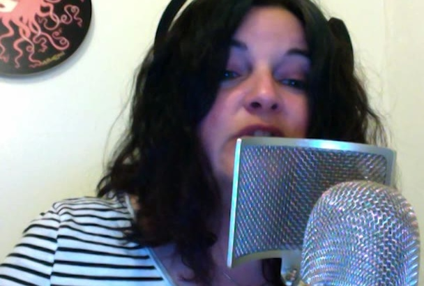 record a fast paced female voiceover