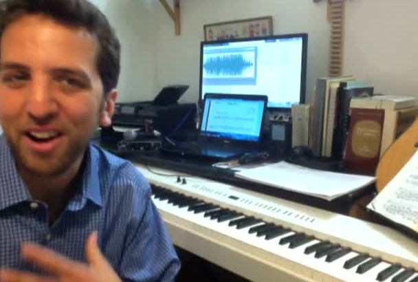 write down your recording in musical notation