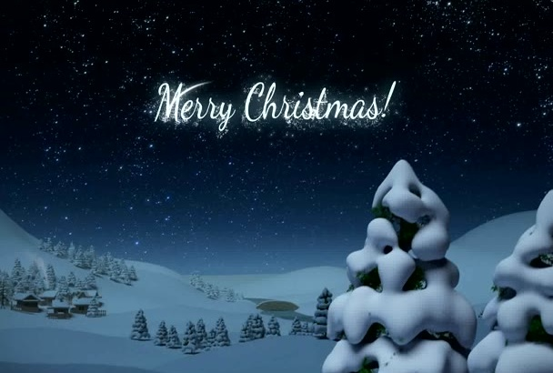 create an santa claus greetings holiday intro within 24 hour