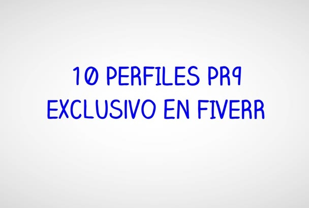 crear 9 Perfiles con alto PR seo