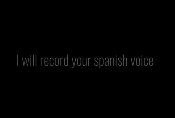 record your spanish voice over
