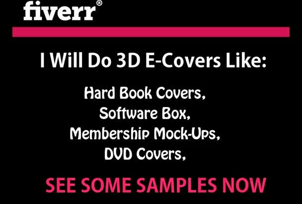 create ur design into 3D ebook covers, hardbook, software box, membership card, DVD cover to your product image