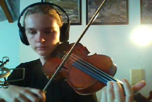record a violin track for your song