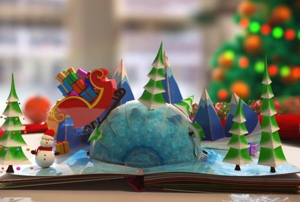amazing christmas animation Holiday video