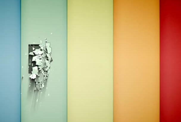 place your logo or brand crumbling effect on wall background