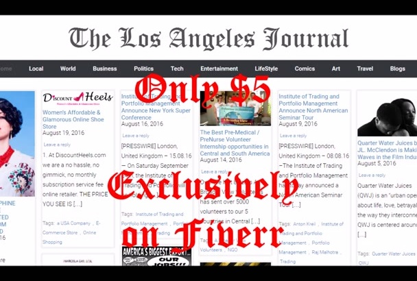 publish article on Los Angeles News blog
