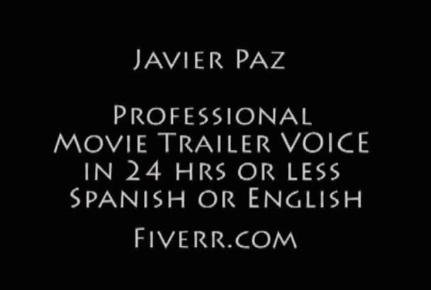 record a Movie Trailer Voice in SPANISH or English