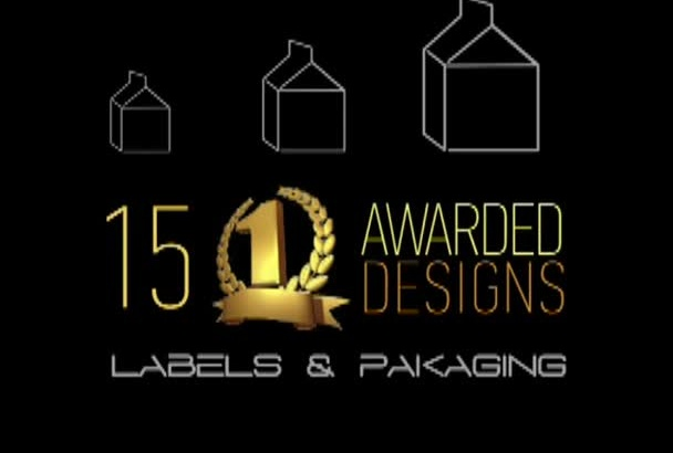 labels packaging design and 3D rendering