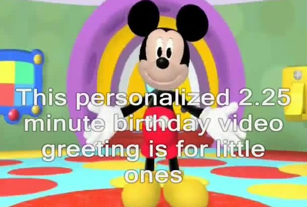 create a personalized birthday greeting from Disney Mickey Mouse