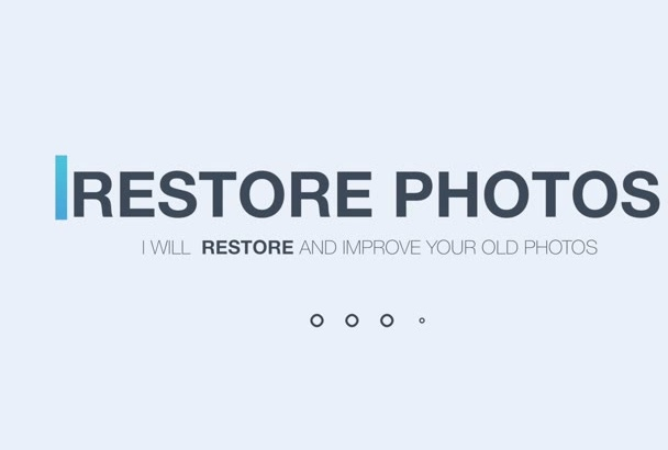 professionally restore and improve your photographs