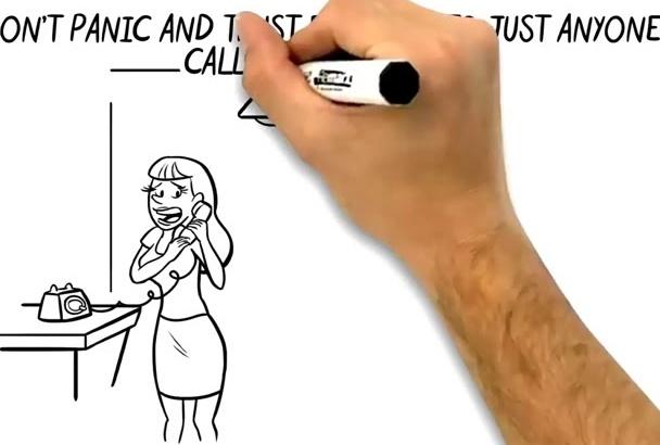 do 2D whiteboard explainer marketing sales Video