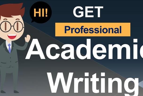 do Professional ACADEMIC Writing