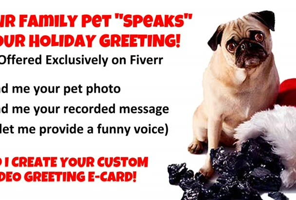 make Your Pet SPEAK Any Custom Video Greeting