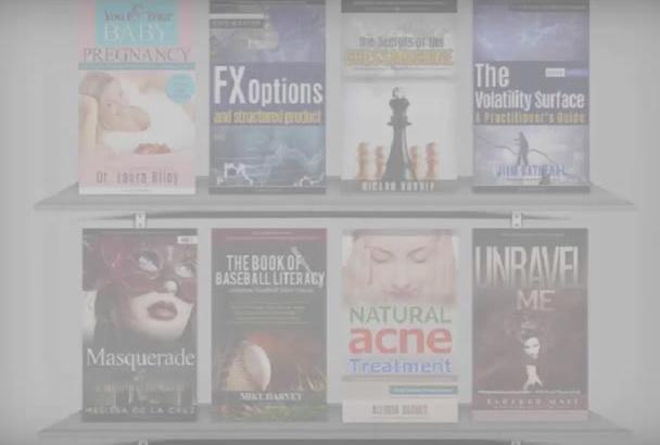 design KINDLE or createspace book cover unique