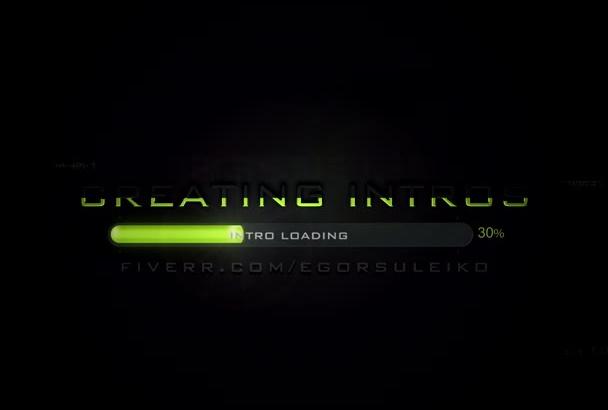 create pro INTRO video