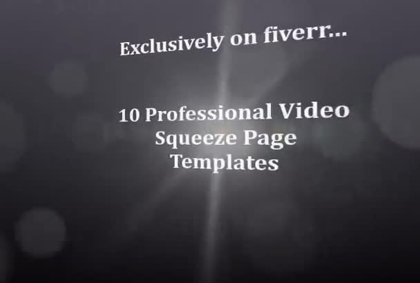 send you 10 cool video squeeze page templates