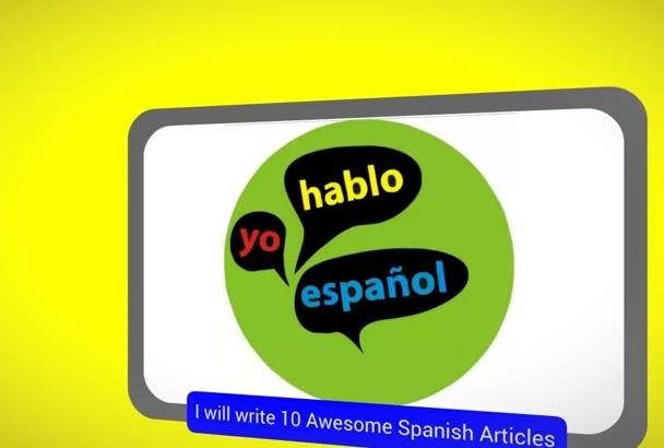 write 10 Awesome Spanish SEO
