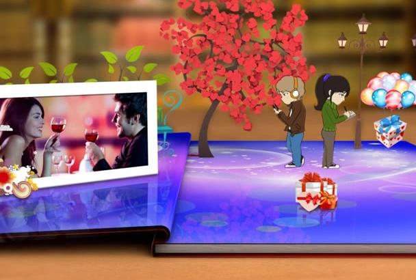 make This Beautiful  Valentines Day Invitation eCard