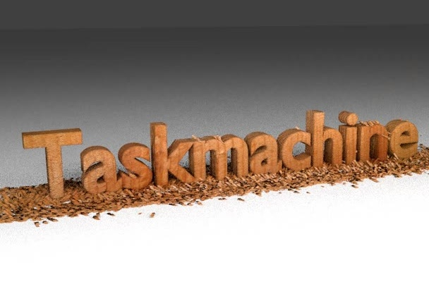 make a wood chipping text message animation