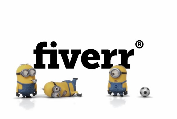 make footballer minion video with your logo on background