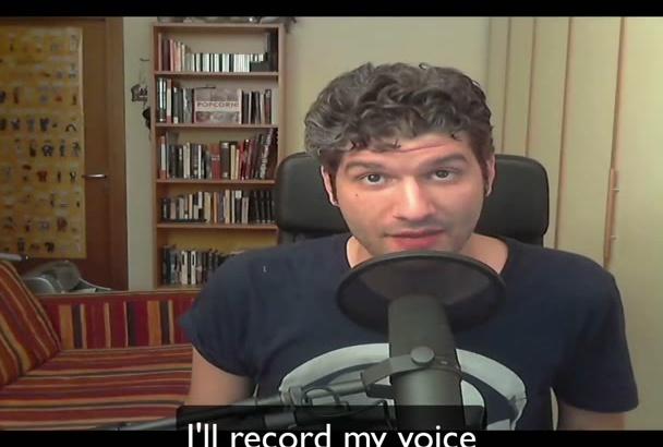 record ITALIAN voice over