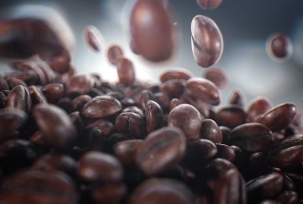 promo Coffee Business Video with your logo and text