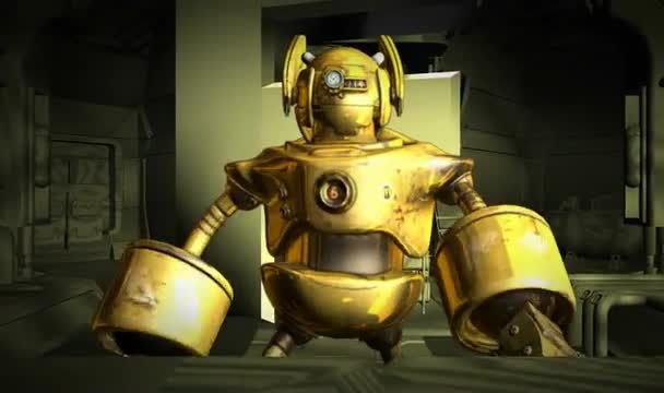 create this 3D Robot Intro